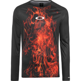 Oakley MTB Camiseta Tech manga larga Hombre, flames
